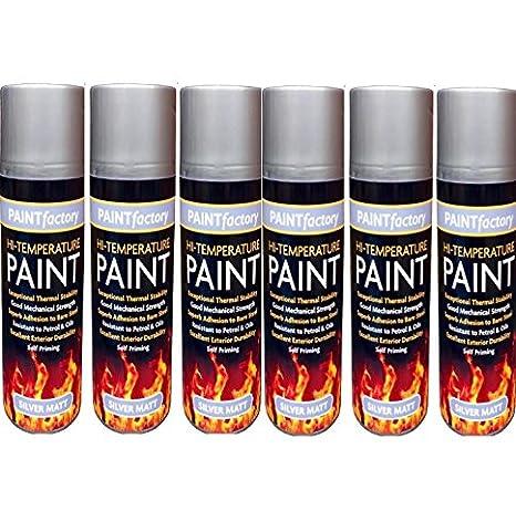 Resistente al calor pintura en spray para plata estufa alta temperatura 400 ml barbacoa de: Amazon.es: Coche y moto