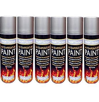 Resistente al calor pintura en spray para plata estufa alta temperatura 400 ml barbacoa de