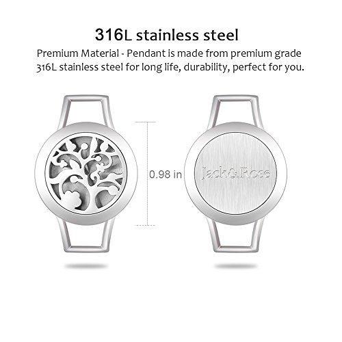 Essential Oil Diffuser Steel Aromatherapy Locket Bracelets Leather Band Color Women Gift Set