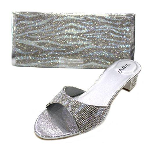 Wear & Walk UK - Sandalias de vestir de Material Sintético para mujer Plateado - plata
