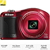 Nikon COOLPIX L610 16MP 3 LCD Red Digital Camera 26346B - (Certified Refurbished)