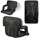 NCAA West Virginia Mountaineers Ventura Portable Reclining Seat, Black