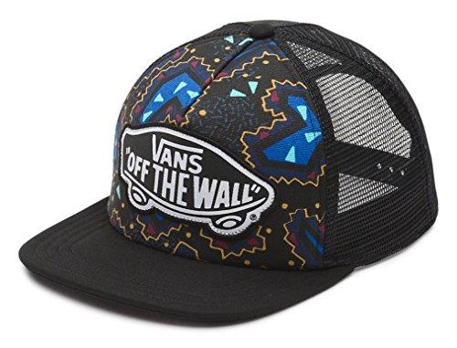 (Vans Off The Wall Women's Beach Girl Trucker Snapack Hat Cap - Black/Nautical Blue)