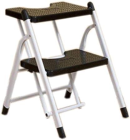 XYQ - Escalera antideslizante de 2 pasos Escalera plegable Escalera de cocina Escaleras de seguridad para el hogar DIY Escalera plegable de acero para uso portátil con capacidad para 4 personas: Amazon.es: Hogar