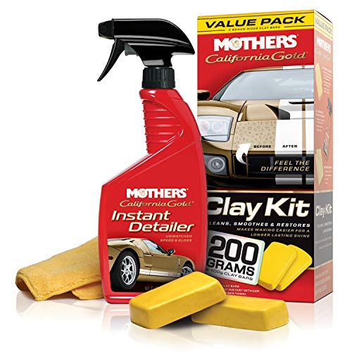Mothers 07240 California Gold Clay Bar System (Best Paint For Clay)