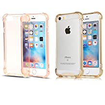 iPhone 6s Case iPhone 6 Case [2 Pack]CaseHQ Flexible TPU Extreme Heavy Duty Protection and Air Cushion Dustproof Shockproof Fit for iPhone 6 (4.7'')(2014) and iPhone 6S (4.7'')(2015)-RoseGold+Golden
