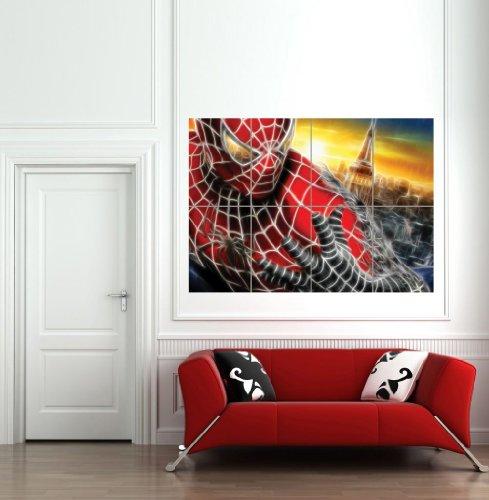 LIGHT ART SPIDERMAN GIANT WALL ART PRINT PICTURE POSTER B1155