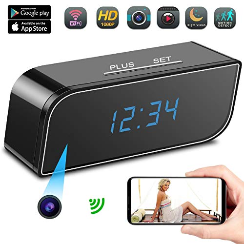 Spy Camera, AMVP Hidden Camera in Clock WiFi Hidden Cameras HD 1080P Video Recorder Wireless IP Camera for Indoor Home Security Monitoring Nanny Cam 140°Angle Night Vision Motion Detection Review