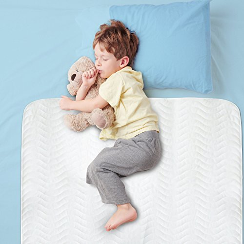 Large 28 x 52 Best Defense Medical Grade Mattress Protector, Waterproof Sheet Protection and Hospital Incontinence Bed Pad, Most Absorbent Reusable Enuresis Bed Pads for Adults, Kids, and Toddlers (Best Pad For Toddlers)