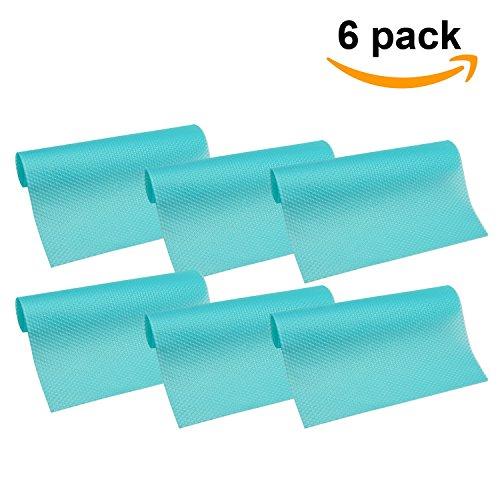 HityTech 6 Pack Refrigerator Mats, Washable Fridge Mats Liners Waterproof fridge pads Mat Shelves Drawer Table Mats 17 3/4