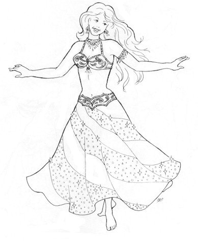 Suzanna's Swirl Skirt Pattern (Belly Dance) - Dance Skirt Pattern