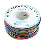 URBEST P/N B-30-1000 200M 30AWG 8-Wire Colored Insulation Test Wrapping Cable