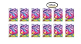 PACK OF 12 - Plackers Kids Dental Floss Picks, Fruit Smoothie Swirl with Fluoride, Dual Grip - 75 Count