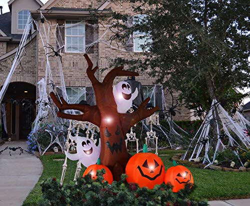 Bigjoys 8 Ft Halloween Inflatable Tree with Ghost Pumpkin Decoration for Indoor Outdoor Home Yard Party by Bigjoys (Image #4)