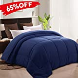 Alternative Comforter - MEROUS Duvet Insert Goose Down Alternative Comforter -Hypoallergenic and Lightweight Luxury Hotel Collection(King/California King,Navy Blue)