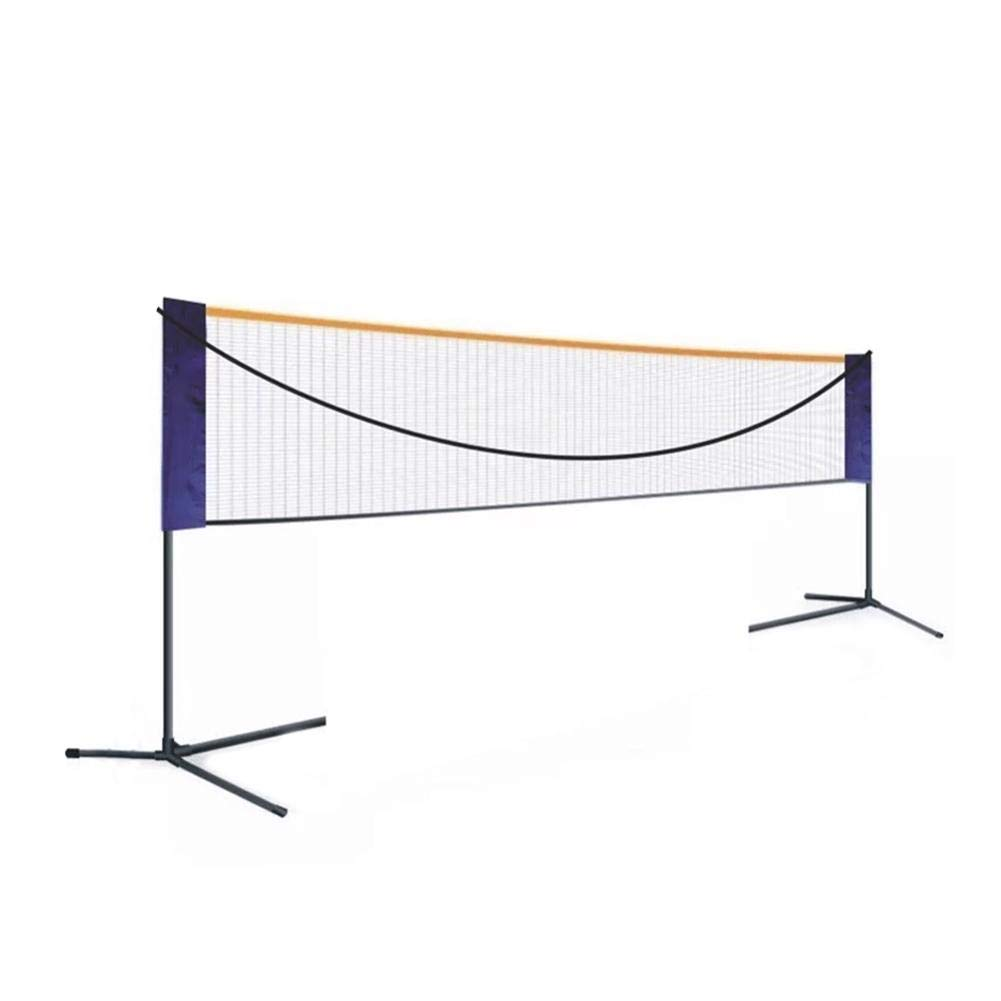 Kids Volleyball Portable Standard Badminton Net Set for Tennis Pickleball Driveway Easy Setup Sports Net with Poles for Indoor or Outdoor Court Beach