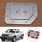 Jade Triple Chrome Plated ABS Fuel Tank Gas Door Cap Cover For Nissan Titan 2004-2014