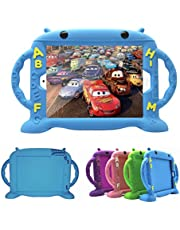 CHINFAI Kids Case for Apple iPad (9.7-Inch, 2018/2017 Model), iPad Pro/iPad Air 1 2 Shockproof Silicone Handle Stand Protective Case Cover (Blue)