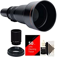 Vivitar 650-1300mm f/8-16 Telephoto Lens + 2x Converter for Canon EOS Rebel T5 T6 T5i T6i T6s