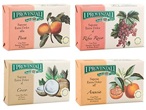 i-provenzali-sapone-extra-dolce-set-of-4-extra-gentle-soaps-coconut-orange-peach-red-currant-53-ounc