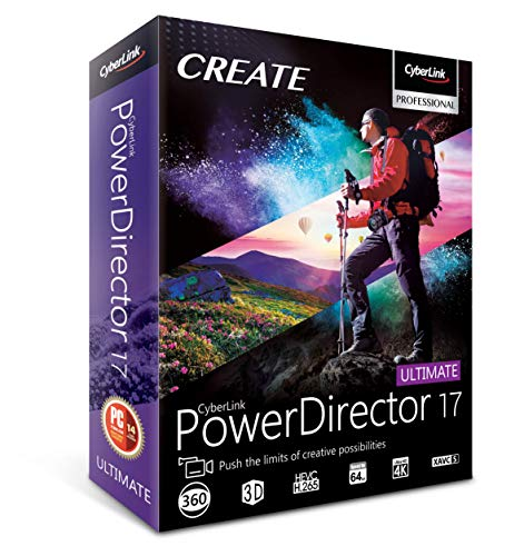 Cyberlink PowerDirector 17 Ultimate (Windows Video Editing Software)