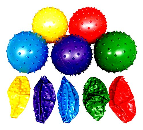 50 Knobby Balls 5 Colors 4½ Childrens Party Favor Toy 10 of Each Color