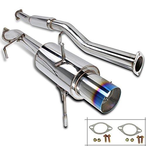 Titanium Tip Cat Back Exhaust - Spec-D Tuning MFCAT3-WRX02T-SD Subaur Impreza WRX STI 4.5