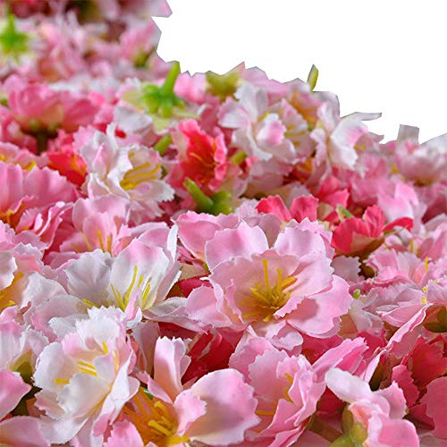 Cherry Blossom Flower Heads, Colorfulife Artificial Silk Flower Head Petals Bridal Shower Favors for Wedding Party Supplies Table Floor Decoration Centerpieces Home Decorative (100) from Colorfulife