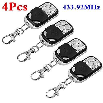 Ocamo 1Pc / 2Pcs /4Pcs Universal Cloning Remote Control Key Fob for Car Garage Door Electric Gate 4pcs