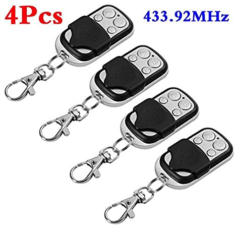 ETbotu Universal Cloning Remote Control Key Fob for Car Garage Door Electric Gate 4pcs