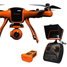"""Wingsland Minivet V2 with 5"""" LCD, 1080P HD Camera on 3-Axis Gimbal, GPS position hold and return to home features. (2017 Version)"""