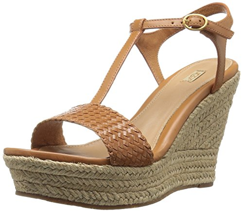 UGG Women's Fitchie II Wedge Sandal, Chestnut, 8 US/8 B US