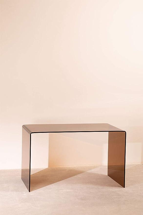 SKLUM Credenza in vetro trasparente Hista Marr/ón Ahumado Scegli Un Colore