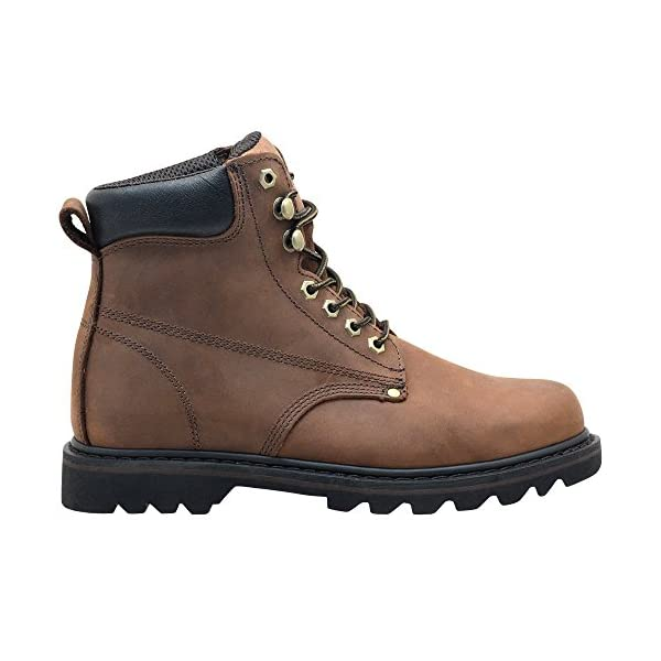 """EVER BOOTS """"Tank Men's Soft Toe Oil Full Grain Leather Work Boots Construction Rubber Sole 2"""