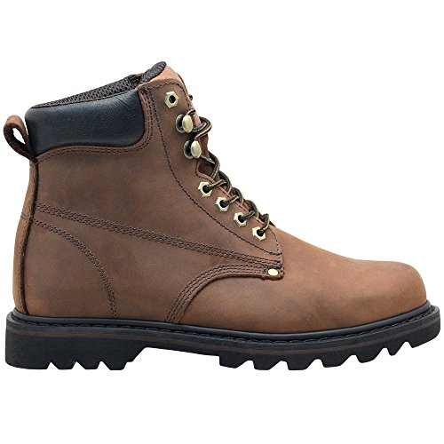 "EVER BOOTS ""Tank Men's Soft Toe Oil Full Grain Leather Work Boots Construction Rubber Sole 2"