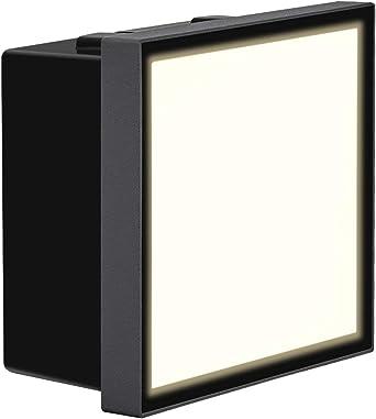 Dr.lazy 6W LED lámpara empotrable luz del piso Lámpara de vestíbulo Escalera al aire libre Iluminación hacia abajo Exterior Interior Jardín impermeable IP65, blanco neutra 4000K (Gris-6W): Amazon.es: Iluminación