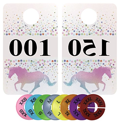Live Sales Tags | Large 001-150 Plastic Coat Number Tag | Reversed & Normal Number Tag | For Facebook Live | For Lularoe Live Sales | Bundled with Round Size - Round Face For Glares