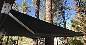 Motorized 16'w x10'd Outdoor Patio Cover Awning Retractable Sun Shade Shelter/ Evergreen