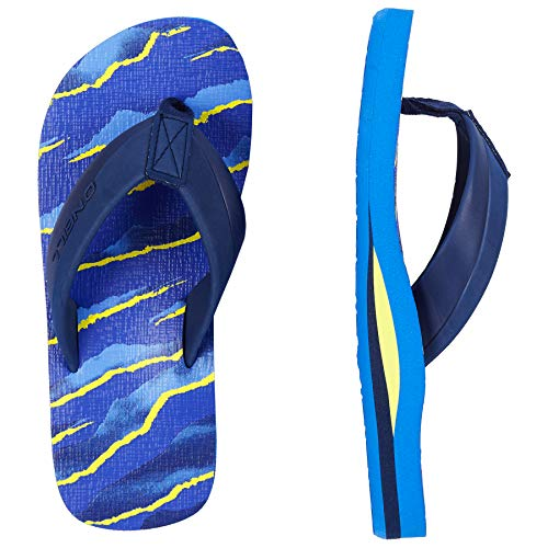 O'Neill Boys' Fb Imprint Pattern Sandals Shoes & Bags, (Blue AOP W/Yellow OR Orange 5920), 4 - Oneill Bag Girls
