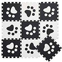 10PCS Soft Kid's EVA Foam Puzzle Play Mat / Interlocking Tiles Floor Mat with Number 30cmX30cm£¨12¡°X12¡±£©3/8¡°Thick