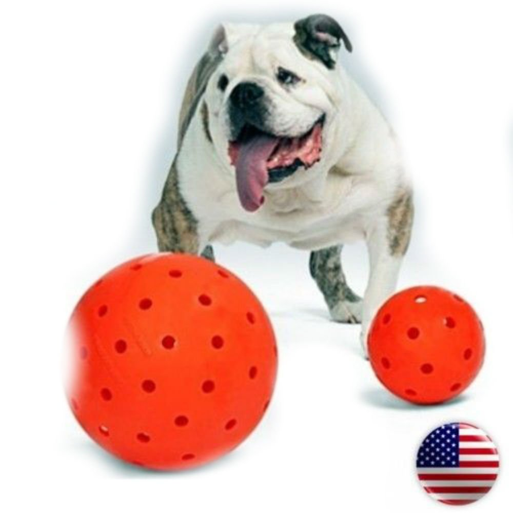 Indestructible 10'' Large Dog Ball in Orange Pit Bulls Mastiffs Rottweiler