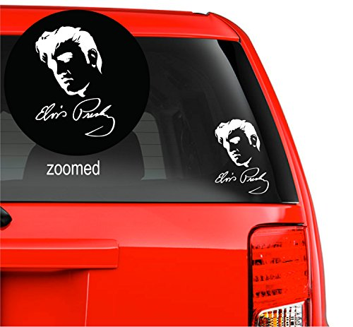 Decal Signature - Elvis Presley The King - Vinyl Decal Sticker Vinyl For Car, Wall Laptop Ipad, Macbook, Bike, Music Instruments, Motorcycle Removable Decorative (11