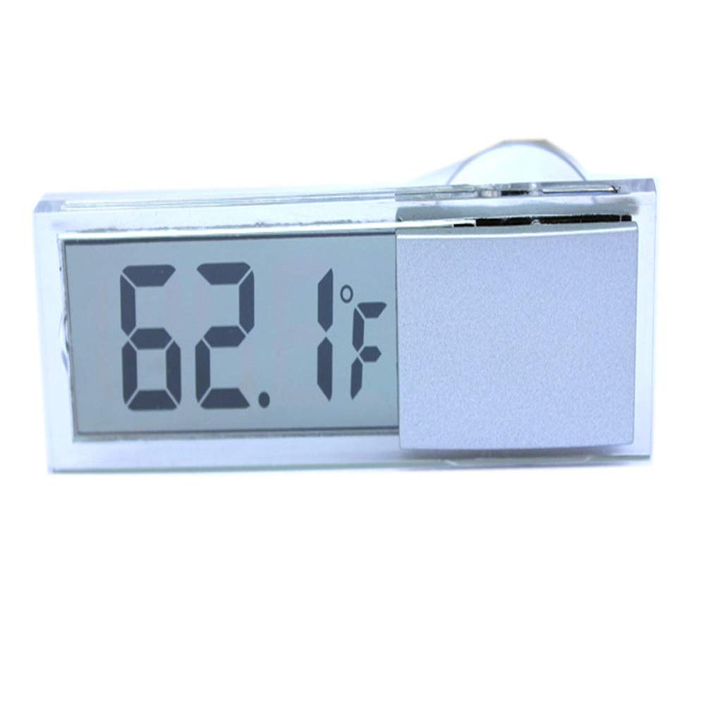 ONEVER Car Electronic Thermometer with Suction Cup, Large LCD Display 15SFB2537LZBUNMRM