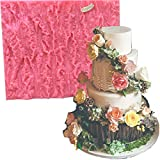 Fondant Impression Mats mold tree bark texture fondant impression lace mold forest party Silicone imprint mold wood Cake Decorating Supplies for crust Wedding cake Decoration tools easy to use