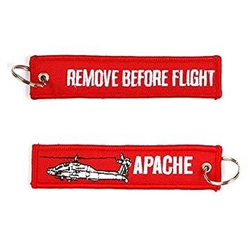 Remove Before Flight Apache Heli llavero Key Ring: Amazon.es ...