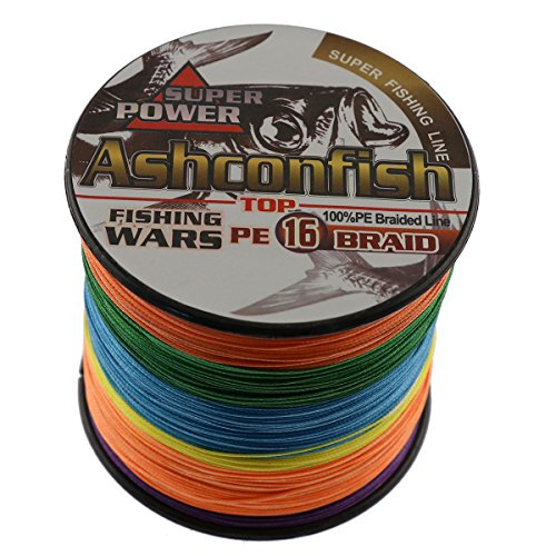 Ashconfish Braided Fishing Line-16 Strands Hollow Core Fishing Wire 100M/109Yards- Abrasion Resistant Incredible Superline Zero Stretch UltraThin Diameter Woven Thread