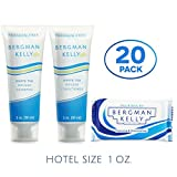 BERGMAN KELLY Soap Bars, Shampoo and Conditioner 3-Piece Travel Amenities Hotel Toiletries In Bulk Guest Size Bottles and Bars (Hotel Size 1 Oz, 20 Pack) Review