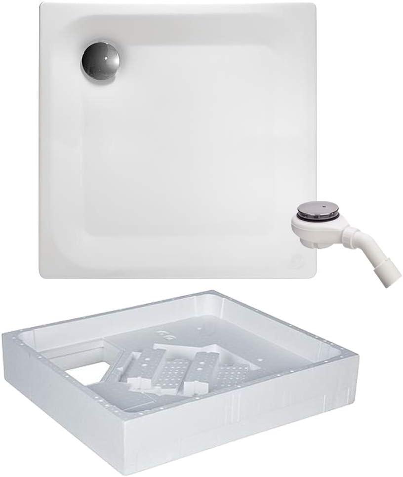 Edura - Plato de ducha (acero, 80 x 80 cm): Amazon.es: Bricolaje y ...