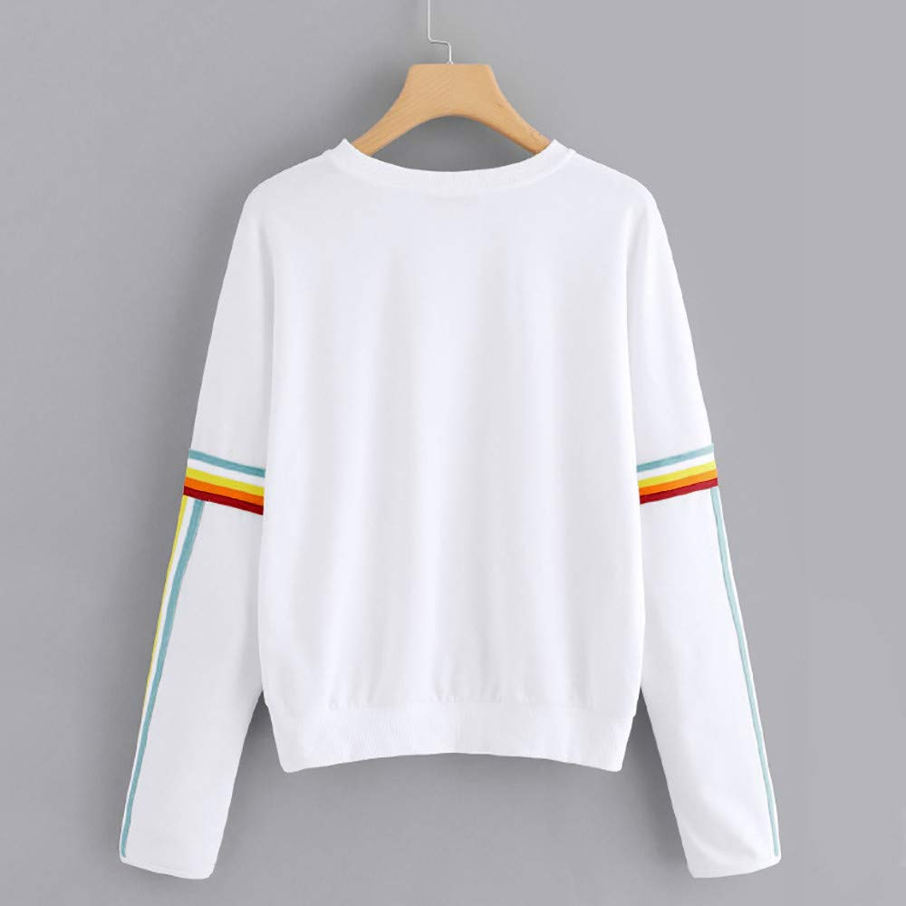 Amazon.com: Toraway- Women Fashion Crewneck Sweatshirts Pullover Rainbow Casual Lightweight Long Sleeve Jumper Oversized Tops Blouse: Clothing