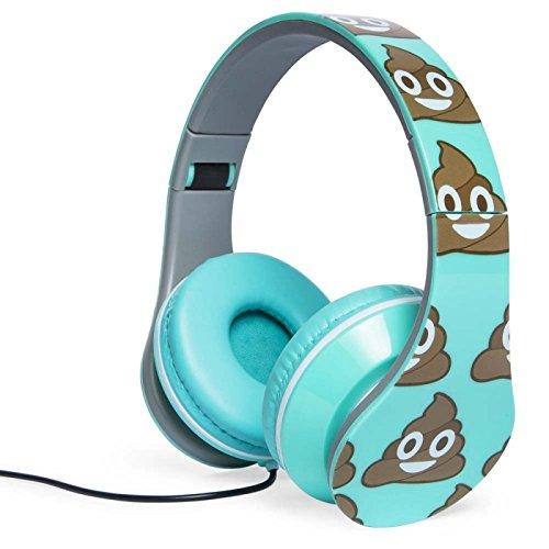 New Poop Emoji fathead smiley foldable headphones